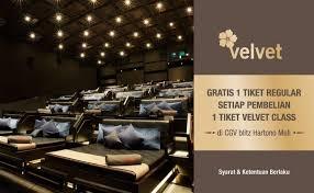 Cgv Jogja Cgv Blitz Velvet Class Promo Beli 1 Gratis 1 Giladiskon