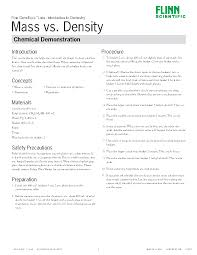 chemical demonstrations