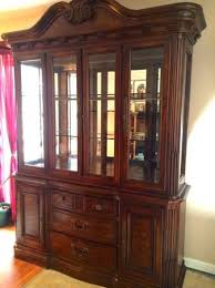 Dining Room Table And Hutch Sets by Havertys Rich Mahogany Master Dining Room Set And China Cabinet Hutch
