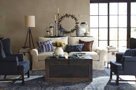 creative pottery barn style living room small home decoration
