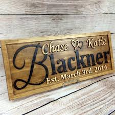 wedding gift name sign personalized family name signs wedding gift aftcra