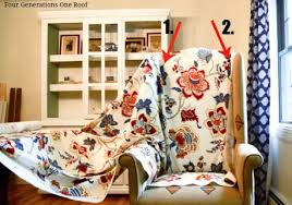 How To Recover Armchair How To Reupholster A Chair Tutorial Video Four Generations
