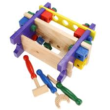 puzzle combine tools wooden toys