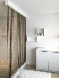 wall dividers wall dividers 15 simple rope wall for room dividers home design and