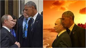 Obama Putin Meme - this barack obama vladimir putin g20 summit death stare sets off