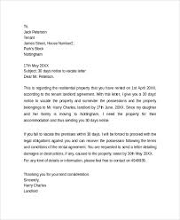 30 day notice to vacate letter world of letter u0026 format