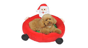 pet christmas christmas dog beds we adore 15 festive options my dog s name