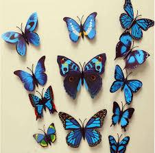 12pcs 3d butterflies stickers fridge magnet decoration