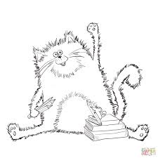splat the cat coloring page free printable coloring pages