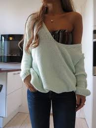 oversized shoulder sweater aztec bra and soulder oversized pullover