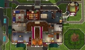 sims 2 house plans mansion house plan