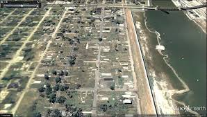 Google Map New Orleans by Google Earth Lower Ninth Ward Before U0026 After Hurricane Katrina