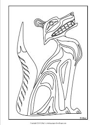 coloring pages pacific northwest native american art coloring