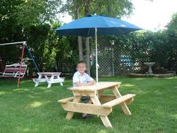 childrens wooden picnic table benches benches things outdoors copy home