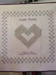 Wedding Quilt Sayings Family Heart Wedding Quilt By Sweetonstitchesetsy On Etsy