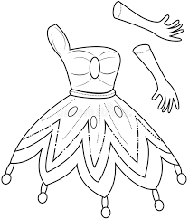 clothes coloring pages princess u0027 clothes coloring page stock illustration image 50448552