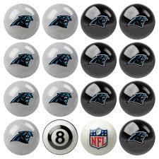Dallas Cowboys Pool Table Felt by Carolina Panthers Pool Ball Set