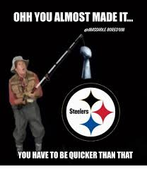Steelers Meme - ohh you almost made it steelers you have to be quicker than that
