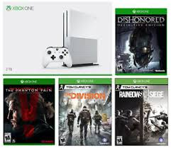 siege xbox 360 xbox one s 2tb bundle r6 siege mgsv division dishonored 399 99