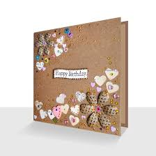 unique happy birthday card kraft card florals unique greeting