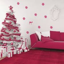 beautiful living room christmas decorating white frosted christmas