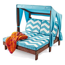 Childrens Chaise Lounge Kid U0027s Double Chaise With Canopy Sam U0027s Club