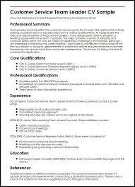 Resume Supervisor Resume Team Leader Cbshow Co