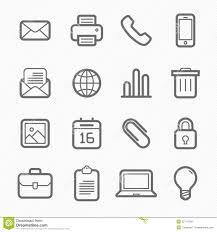 icone de bureau ligne ensemble de symbole d éléments de bureau d icône illustration