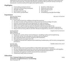 hair stylist resume example resume example and free resume maker