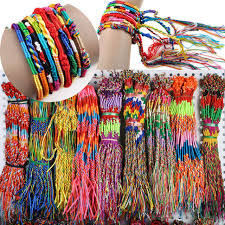 weave friendship bracelet images Wholesale neon friendship bracelets wrap rainbow bracelets jpg