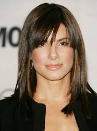 sweet and cute asymmetrical hairstyles with bangs for long layered