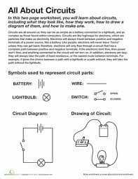 all about circuits science worksheets worksheets and fourth grade