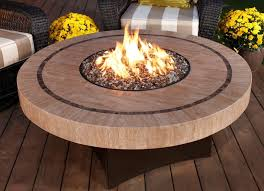 Round Stone Patio Table patio ideas round propane fire pit table with stone beads ideas