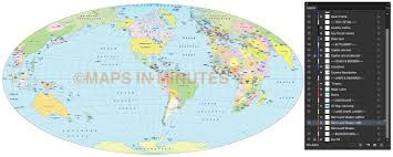 World Map Us by Vector World Map Aitoff Political Projection Us Centric In