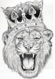 drawn lion lion crown pencil and in color drawn lion lion crown