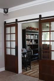 wonderful barn wooden half glass sliding modern interior doors