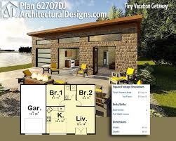 tiny house 600 sq ft plan 62707dj tiny vacation getaway