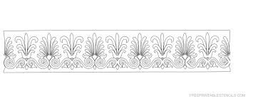 8 best images of free printable flower stencil borders floral