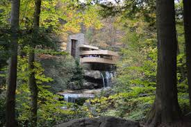 Frank Lloyd Wright Waterfall by When Buildings Blend With Nature On Frank Lloyd Wright U0027s Organic