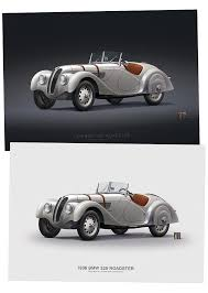 bmw types of cars bmw 328 roadster 1936 poster typoart store