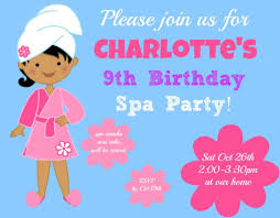 great 9 year old u0027s birthday party idea a spa birthday party