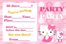 Size Invitation Card Hello Kitty Birthday Party Invitation Card Template Polka Dot As