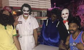 amazing costumes kevin durant and westbrook dressed up in amazing