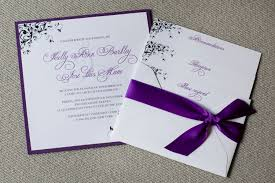 purple wedding invitation kits silver and purple wedding invitations wedding party decoration