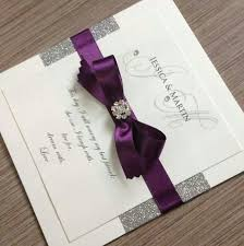 purple wedding invitations purple and silver wedding invitations purple wedding card pinteres