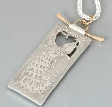 gold engraved necklace silver bonsai modern heirloom jewelry by ben and kathryn