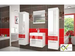 badezimmer rot badezimmer sup 5 weiß rot in hochglanz neu mit garantie 229