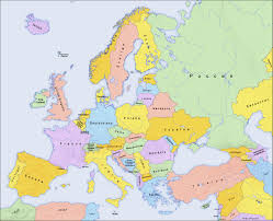 Blank Political Map Of Europe by New Political Map Of Europe Name Of Countries In Local Languages