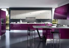 Kitchen Room Interior Design Purple And White Kitchen Cabinets Ideas With White Floor Kitchen