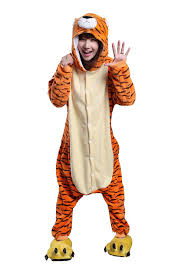 footie pajamas halloween costumes amazon com honeystore unisex tiger pajama halloween costume